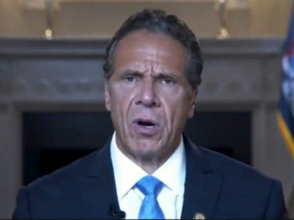 This image made from video provided by the New York Governor's Office shows New York Gov. Andrew Cuomo giving a farewell speech, Monday, Aug. 23, 2021 in New York. The governor's resignation will be effective at the end of the day Monday. Lt. Gov. Kathy Hochul will then be sworn …