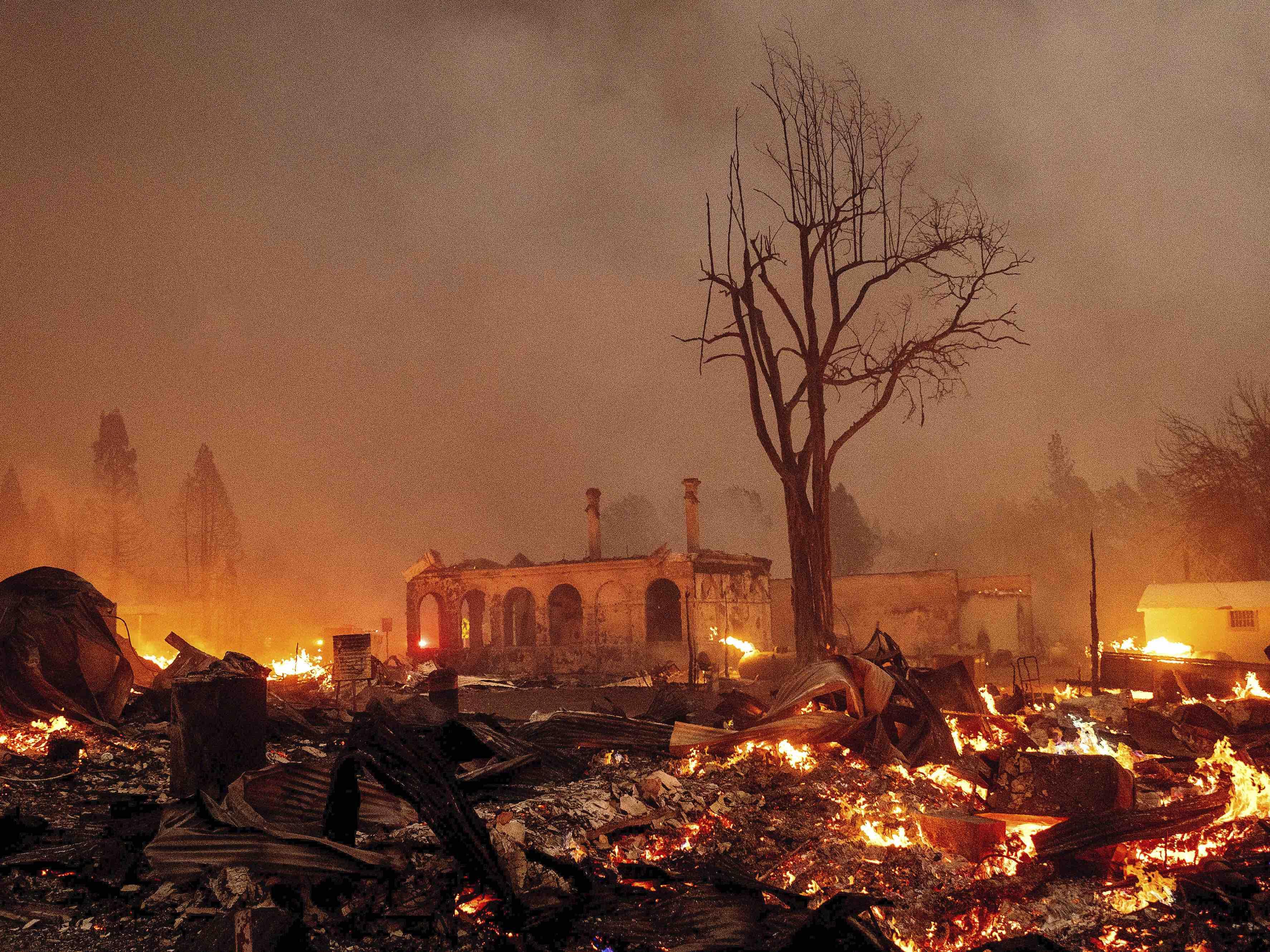 Dixie fire destruction (Noah Berger / Associated Press)