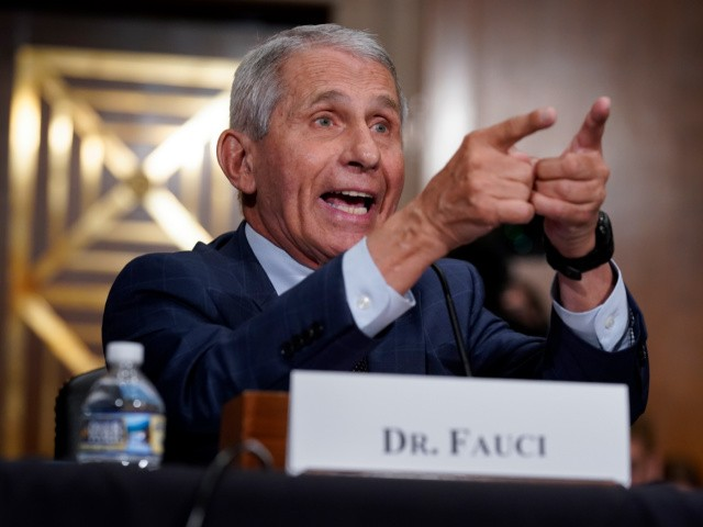Top infectious disease expert Dr. Anthony Fauci responds to accusations by Sen. Rand Paul, R-Ky., as he testifies before the Senate Health, Education, Labor, and Pensions Committee about the origin of COVID-19, July 20, 2021 on Capitol Hill in Washington, DC. Cases of COVID-19 have tripled over the past three weeks, and hospitalizations and deaths are rising among unvaccinated people. (Photo by J. Scott Applewhite-Pool/Getty Images)
