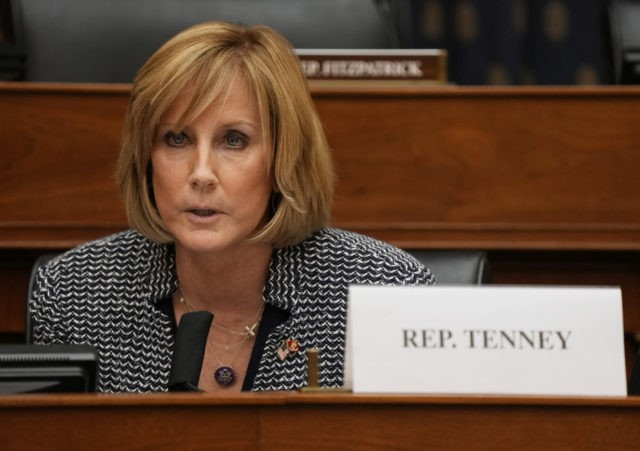 WASHINGTON, DC - MARCH 10: Rep. Claudia Tenney speaks as U.S. Secretary of State Antony Blinken testifies before the House Committee on Foreign Affairs on The Biden Administration's Priorities for U.S. Foreign Policy on Capitol Hill on March 10, 2021 in Washington, DC. Blinken is expected to take questions about …