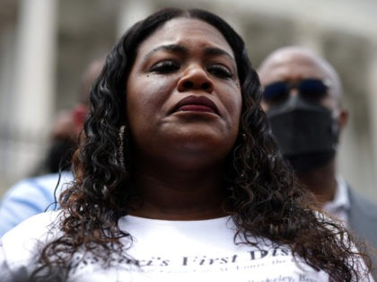 WASHINGTON, DC - AUGUST 03: Rep. Cori Bush (D-MO) speaks at a rally against the end of the eviction moratorium at the U.S. Capitol on August 03, 2021 in Washington, DC. Bush, and other Representatives, have been sleeping on and occupying the House steps in protest of their House colleagues …