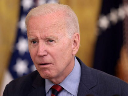 WASHINGTON, DC - AUGUST 03: U.S. President Joe Biden takes questions during an event in the East Room of the White House where he addressed the importance of people getting a COVID-19 vaccination August 3, 2021 in Washington, DC. Biden also said New York Gov. Andrew Cuomo should resign following …