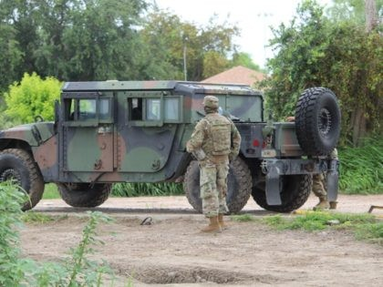 Texas National Guard troops take positions on the Mexican border. (Photo: Randy Clark/Breitbart Texas)