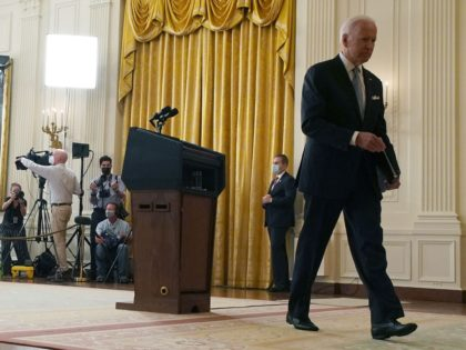 Joe Biden leaves (Anna Moneymaker / Getty)