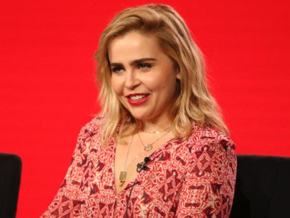 """Mae Whitman participates in the """"Good Girls"""" panel during the NBCUniversal Television Critics Association Winter Press Tour on Tuesday, Jan. 9, 2018, in PAsadena, Calif. (Photo by Willy Sanjuan/Invision/AP)"""