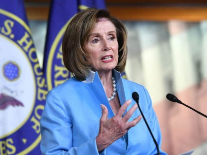 US Speaker of the House, Nancy Pelosi, Democrat of California, speaks during her weekly press briefing on Capitol Hill in Washington, DC, on August 6, 2021. (Photo by MANDEL NGAN / AFP) (Photo by MANDEL NGAN/AFP via Getty Images)