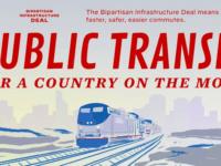 Biden White House Promotes Infrastructure Deal with Diesel Locomotive