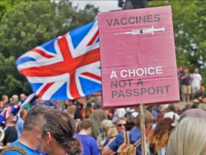 Protest against Vaccine Passports, London, August 28, 2021. Kurt Zindulka, Breitbart News