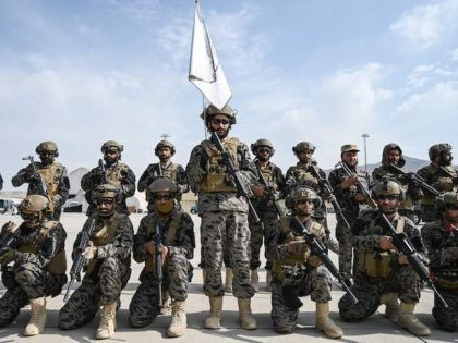 Members of the Taliban Badri 313 military unit take a position at the airport in Kabul on August 31, 2021, after the US has pulled all its troops out of the country to end a brutal 20-year war -- one that started and ended with the hardline Islamist in power. …