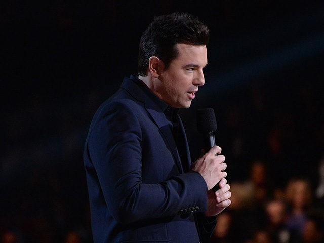 Feb 15, 2016; Los Angeles, CA, USA; Seth MacFarlane presents Best Musical Theater Album during the 58th Grammy Awards at the Staples Center. Mandatory Credit: Robert Hanashiro-USA TODAY NETWORK