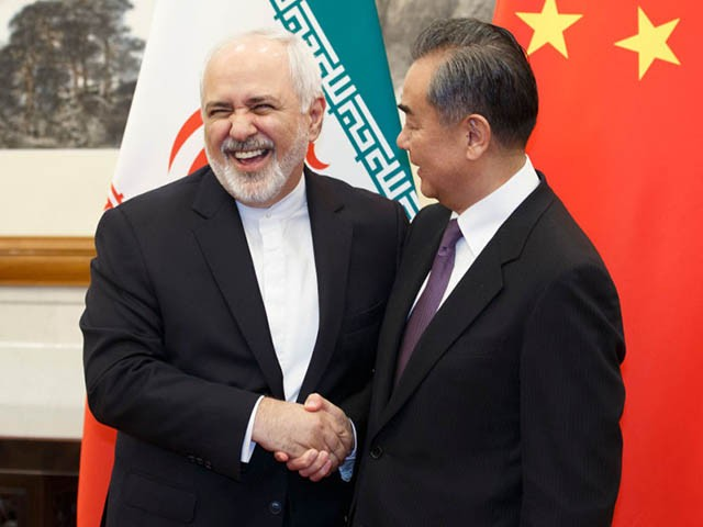 BEIJING, CHINA - MAY 17: Chinese Foreign Minister Wang Yi meets Iranian Foreign Minister Mohammad Javad Zarif at Diaoyutai State Guesthouse on May 17, 2019 in Beijing, China. (Photo by Thomas Peter-Pool/Getty Images)