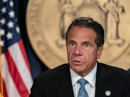NEW YORK, NY - JULY 23: New York Gov. Andrew Cuomo speaks during the daily media briefing at the Office of the Governor of the State of New York on July 23, 2020 in New York City. The Governor said the state liquor authority has suspended 27 bar and restaurant …