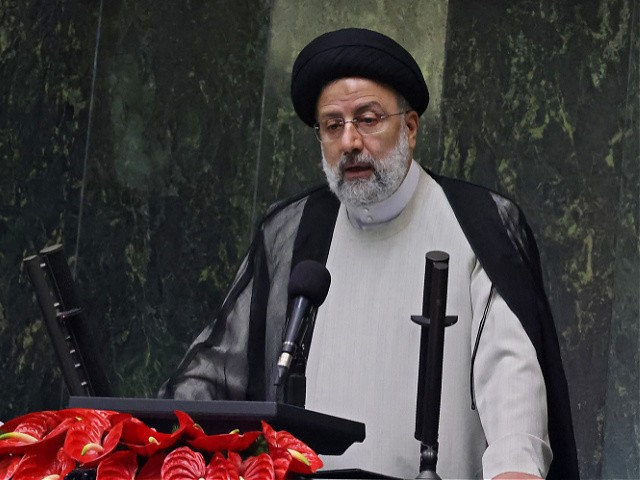 Iran's newly elected President Ebrahim Raisi speaks during his swearing in ceremony at the Iranian parliament in the capital Tehran on August 5, 2021. - Raisi takes the oath before parliament today with Iran facing an economy battered by US sanctions, a grinding health crisis and thorny negotiations on its nuclear programme. (Photo by Atta KENARE / AFP) (Photo by ATTA KENARE/AFP via Getty Images)