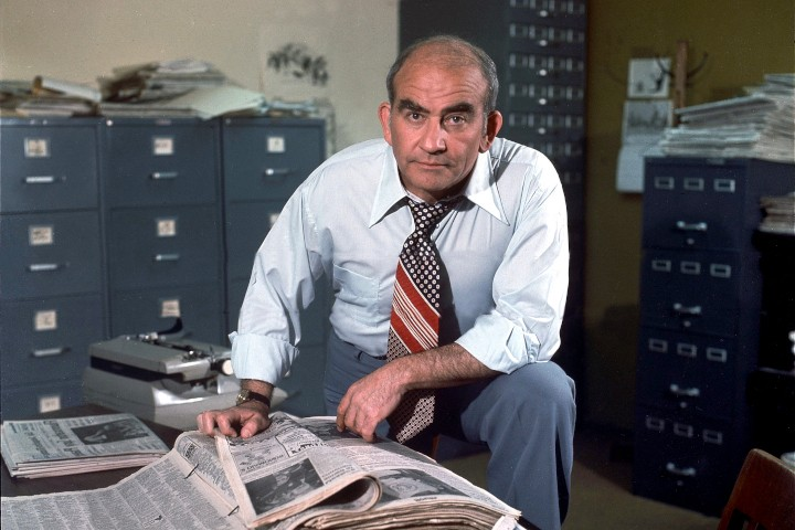 """Ed Asner as Lou Grant in the series, """"Lou Grant."""" Image dated 1977. (CBS)"""