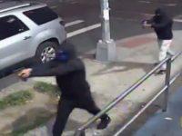 Watch: Two Men Pull Guns, Open Fire in Mayor de Blasio's NYC