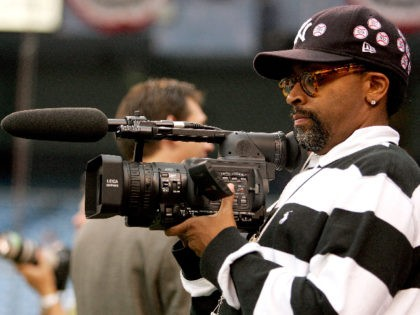 NEW YORK - OCTOBER 03: Filmmaker Spike Lee shoots on his video camera during batting practice prior to game one of the American League Division Series between the New York Yankees and the Detroit Tigers on October 3, 2006 at Yankee Stadium in the Bronx Borough of New York City. …