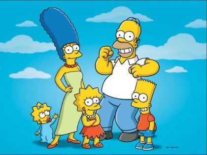"""This undated publicity photo released by Fox, shows, from left, from left, Maggie, Marge, Lisa, Homer and Bart from the animated series, """"The Simpsons,"""" The Fox network has ordered the 29th and 30th seasons of """"The Simpsons,"""" carrying it through the 2018-19 season. (AP Photo/Fox)"""