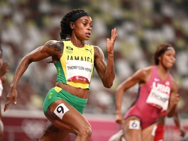 Jamaica's Elaine Thompson-Herah looks in ominously good form to complete the Olympic sprint double double after powering into the 200m final