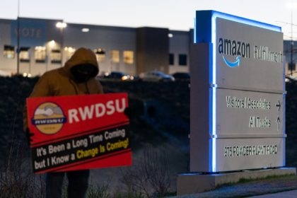 Workers voted in April on whether to unionize an Amazon warehouse in the US state of Alabama