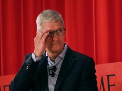 Apple CEO Tim Cook looking pensive