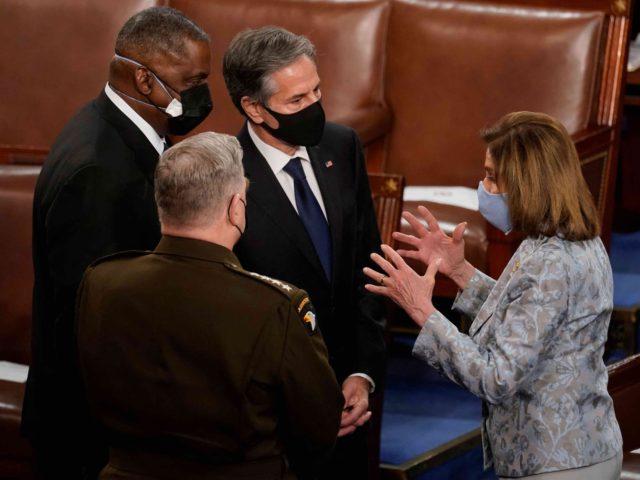 Austin Milley Blinken Pelosi (Andrew Harnik / AFP / Getty)