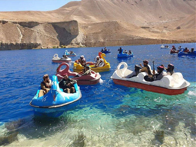 Photos Allegedly Show Taliban Riding Swan Pedal Boats