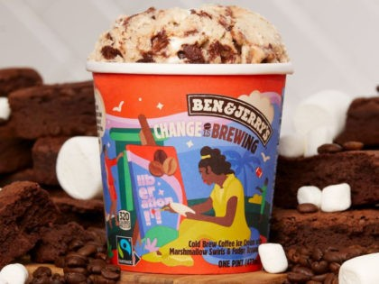 """Ben & Jerry's unveiled a new flavor, """"Change Is Brewing,"""" in support of Rep. Cori Bush's (D-MO) Black Lives Matter-approved policing and public safety act on Monday."""