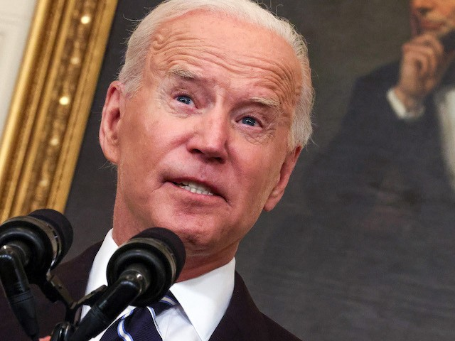 President Joe Biden speaks about combatting the coronavirus pandemic in the State Dining Room of the White House on September 9, 2021 in Washington, DC. (Kevin Dietsch/Getty Images)