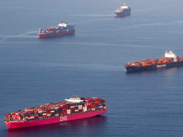 PHOTOS: Massive Cargo Ship Buildup Outside L.A., Long Beach Ports as  Imports Resume
