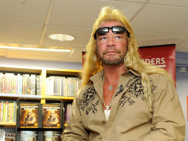 """NEW YORK - MARCH 19: Media personality Duane Chapman, known in the media as """"Dog the Bounty Hunter"""" promotes his book """"When Mercy Is Shown, Mercy Is Given"""" at Borders Wall Street on March 19, 2010 in New York City. (Photo by Jemal Countess/Getty Images)"""
