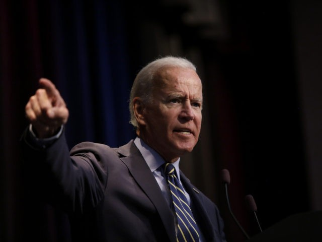 ALTOONA, IA - AUGUST 21: Democratic presidential candidate, former Vice President Joe Biden speaks at the Iowa Federation Labor Convention on August 21, 2019 in Altoona, Iowa. Candidates had 10 minutes each to address union members during the convention. The 2020 Democratic presidential Iowa caucuses will take place on Monday, …