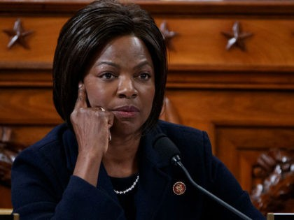 WASHINGTON, DC - NOVEMBER 19: Rep. Val Demings (D-FL) questions former State Department special envoy to Ukraine Kurt Volker and former National Security Council Senior Director for European and Russian Affairs Tim Morrison during testimony before the House Intelligence Committee in the Longworth House Office Building on Capitol Hill November …