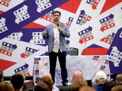 NASHVILLE, TENNESSEE - OCTOBER 26: Clay Travis speaks onstage during the 2019 Politicon at Music City Center on October 26, 2019 in Nashville, Tennessee.