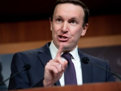 US Senator Chris Murphy, Democrat of Connecticut, speaks during a press conference about the Senate impeachment trial of US President Donald Trump at the US Capitol in Washington, DC, January 22, 2020. - Republicans and Democrats battled over summoning high-level White House witnesses Tuesday in a marathon first day of …