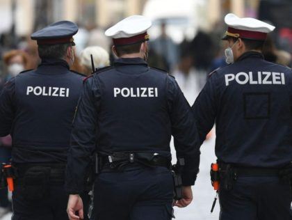 Police patrols in the center of Vienna on May 3, 2021, as the federal capital and Lower Austria partially reopened after a regional lockdown, amid the ongoing coronavirus Covid-19 pandemic. - Austria OUT (Photo by HELMUT FOHRINGER / APA / AFP) / Austria OUT (Photo by HELMUT FOHRINGER/APA/AFP via Getty …