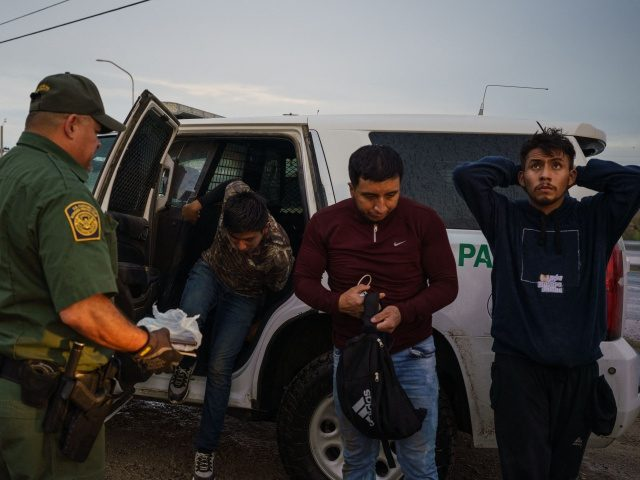 Migrants are processed by United States Border Patrol after being caught trying to enter the United States undetected in Sunland Park, New Mexico on September 1, 2021. (Photo by PAUL RATJE / AFP) (Photo by PAUL RATJE/AFP via Getty Images)