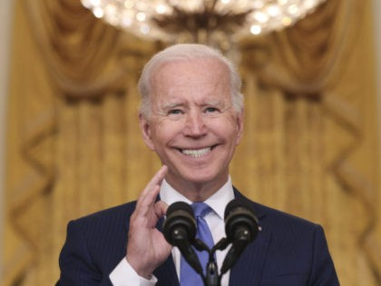 WASHINGTON, DC - SEPTEMBER 16: U.S President Joe Biden speaks during an event in the East Room of the White House September 16, 2021 in Washington, DC. Biden spoke about the U.S. economy during the event. (Photo by Win McNamee/Getty Images)