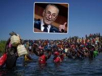 Chuck Schumer Blames 'Hateful and Xenophobic' Trump Policies for Biden Border Chaos