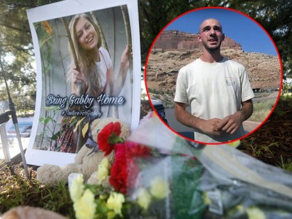 NORTH PORT, FL - SEPTEMBER 20: A makeshift memorial dedicated to missing woman Gabby Petito is located near City Hall on September 20, 2021 in North Port, Florida. A body has been found by authorities in Grand Teton National Park in Wyoming that fits the description of Petito, who went …