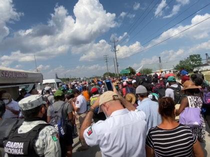 Haitians Rush Checkpoint