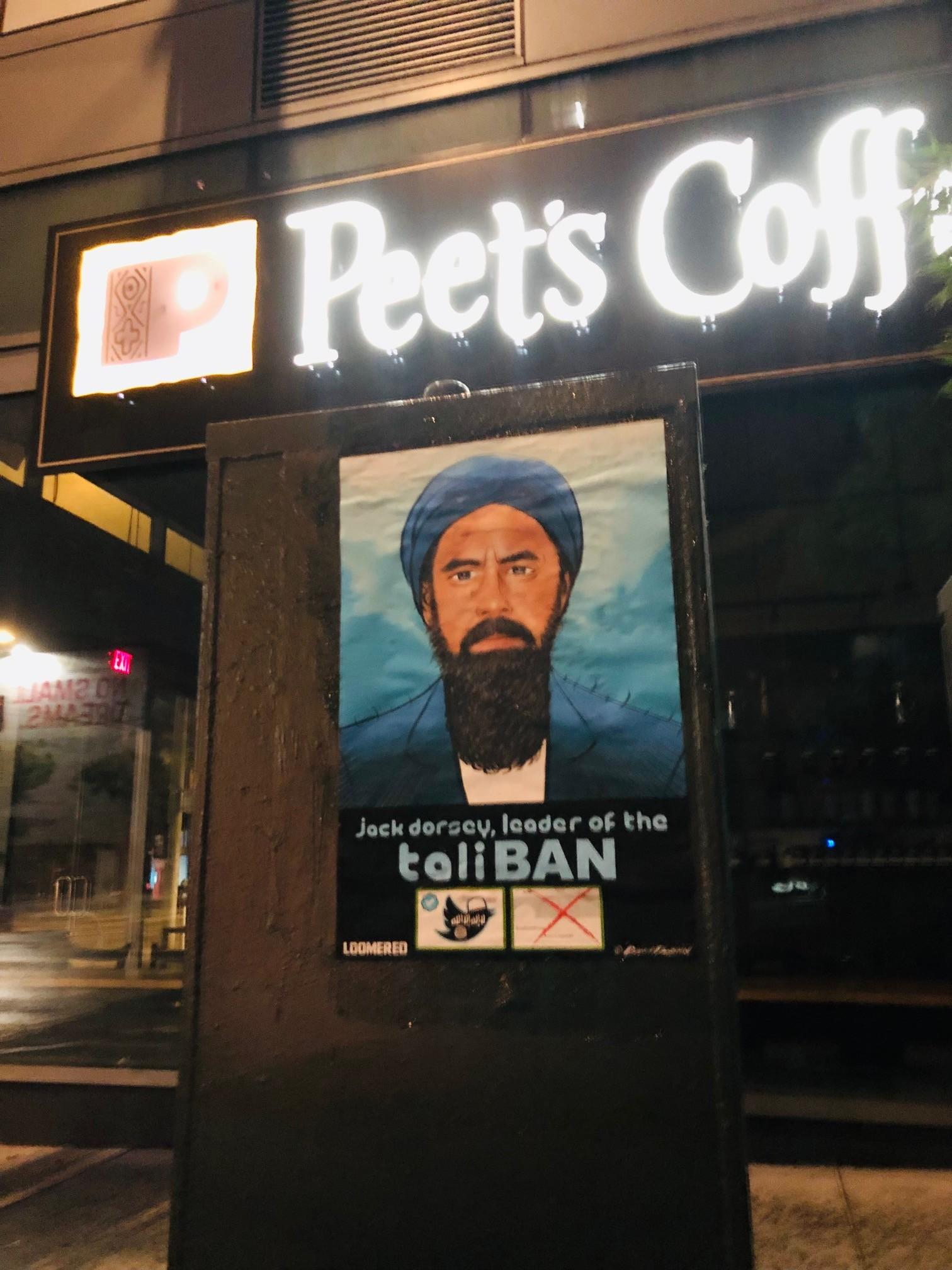 'TaliBAN:' Street Art Denouncing Twitter Censorship Covers San Francisco 3