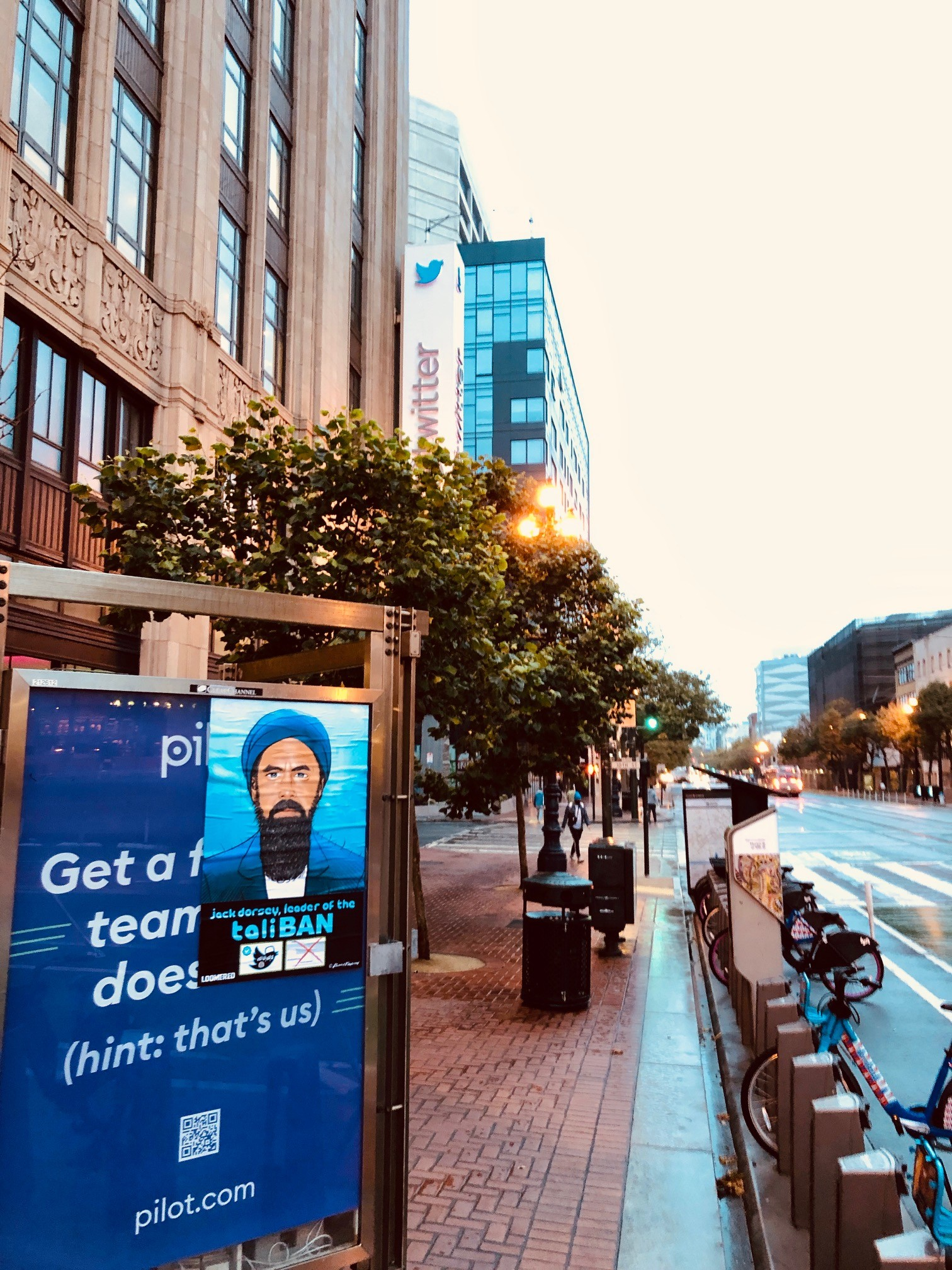 'TaliBAN:' Street Art Denouncing Twitter Censorship Covers San Francisco 5