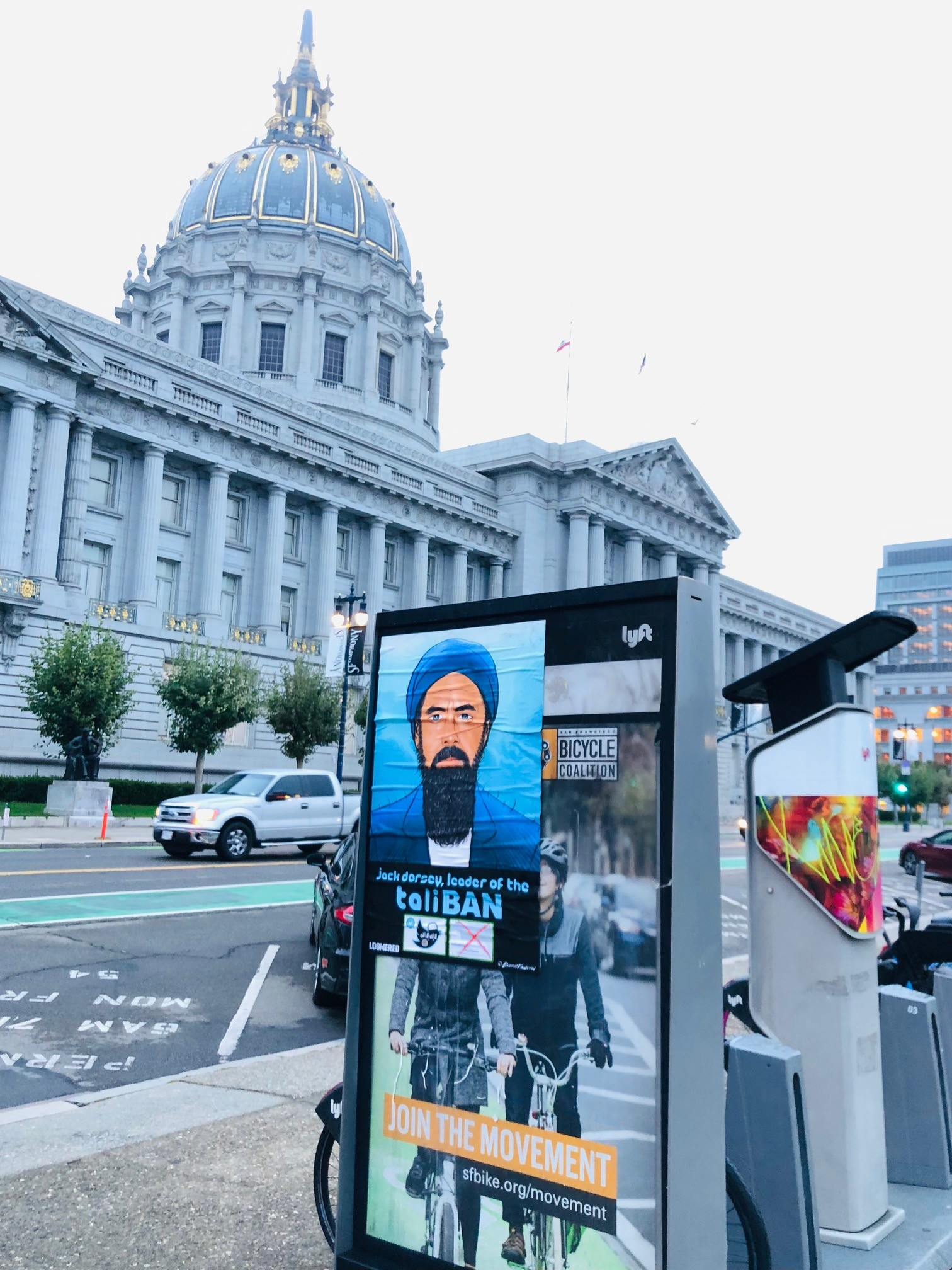 'TaliBAN:' Street Art Denouncing Twitter Censorship Covers San Francisco 6