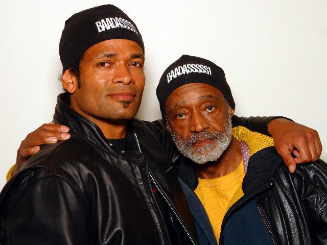Mario & Melvin Van Peebles photographed at the Philadelphia Film Festival promoting the film Baadasssss! in which Mario plays his filmmaker father Melvin. Philadelphia, PA. April 15, 2004. Credit: Scott Weiner/MediaPunch /IPX