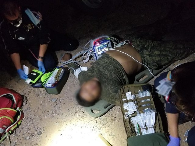 Ajo Station agents rescued a migrant in the Arizona desert. (Photo: U.S. Border Patrol/Tucson Sector)