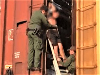 Border Patrol agents rescue 27 migrants from rail cars near border in Texas. (Video Screenshot: U.S. Border Patrol)