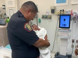 Jersey Police Officer Catches One-Month-Old Baby Thrown from Balcony