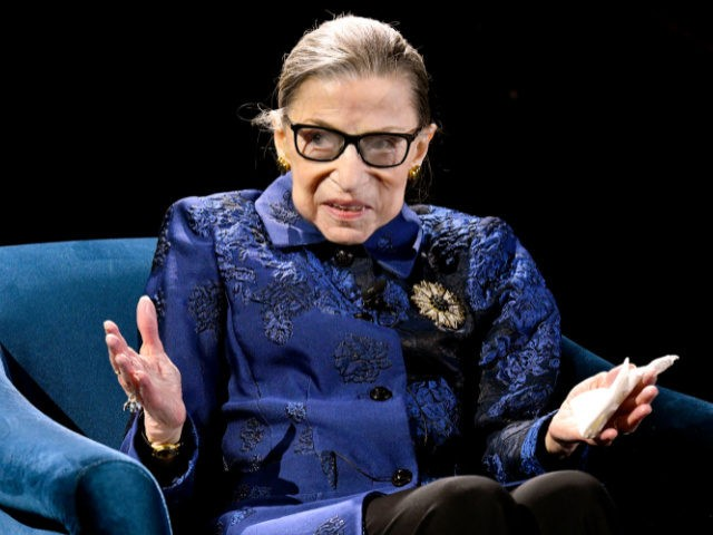 Justice Ruth Bader Ginsburg speaks onstage at the Fourth Annual Berggruen Prize Gala celebrating 2019 Laureate Supreme Court Justice Ruth Bader Ginsburg In New York City on December 16, 2019 in New York City. (Photo by Eugene Gologursky/Getty Images for Berggruen Institute)