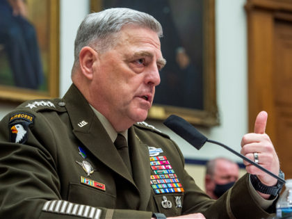 Chairman of the Joint Chiefs of Staff Gen. Mark Milley testifies before the House Armed Services Committee on the conclusion of military operations in Afghanistan and plans for future counterterrorism operations on Wednesday, Sept. 29, 2021, on Capitol Hill in Washington. (Rod Lamkey/Pool via AP)