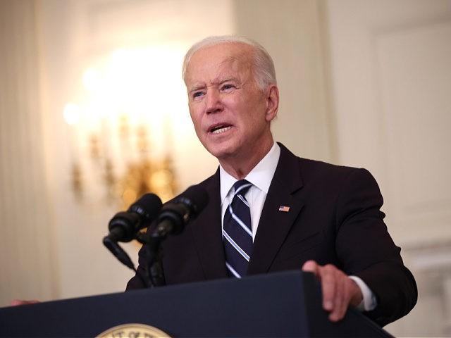 WASHINGTON, DC - SEPTEMBER 09: U.S. President Joe Biden speaks about combatting the coronavirus pandemic in the State Dining Room of the White House on September 9, 2021 in Washington, DC. As the Delta variant continues to spread around the United States, Biden outlined his administration's six point plan, including …